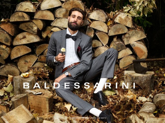IRIS BROSCH PHOTOGRAPHS A/W 11 CAMPAIGN FOR BALDESSARINI