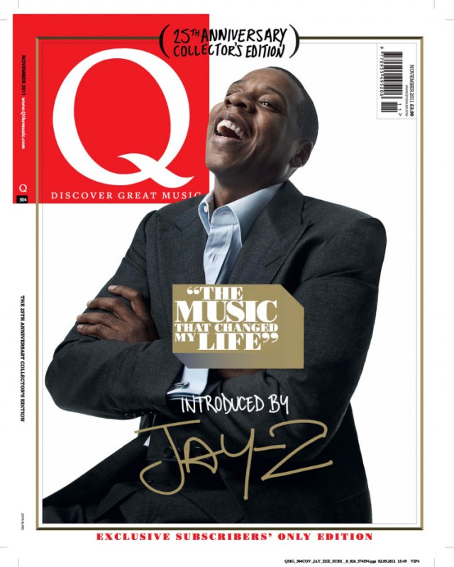 Q MAGAZINE ANNIVERSARY COVERS OF JAY-Z AND GREENDAY BY GAVIN BOND