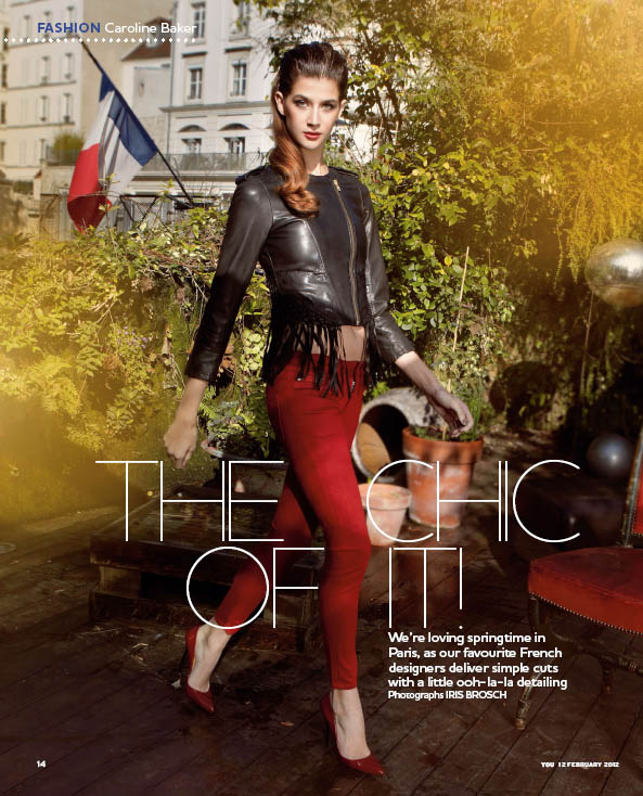 PHOTOGRAPHER IRIS BROSCH SHOOTS 'THE CHIC OF IT' FOR YOU MAGAZINE