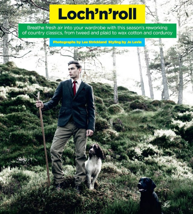BRITISH GQ THE GREAT OUTDOORS FASHION STORY BY PHOTOGRAPHER LEE STRICKLAND