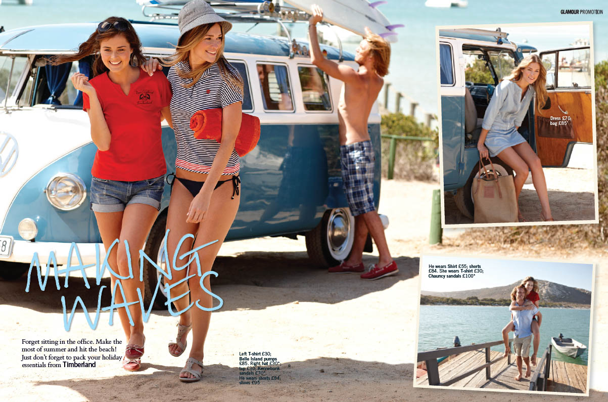 PETER CHRISTIAN SHOOTS A TIMBERLAND PROMOTION FOR GLAMOUR MAGAZINE