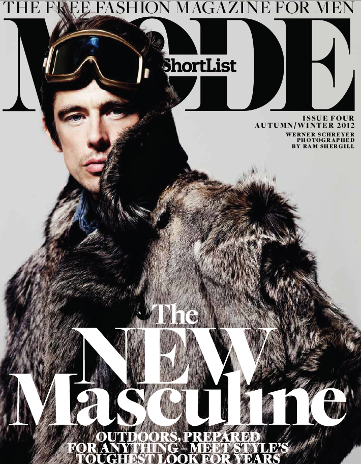 RAM SHERGILL PHOTOGRAPHS COVER STORY OF MALE SUPERMODEL WERNER SCHREYER FOR MODE MAGAZINE