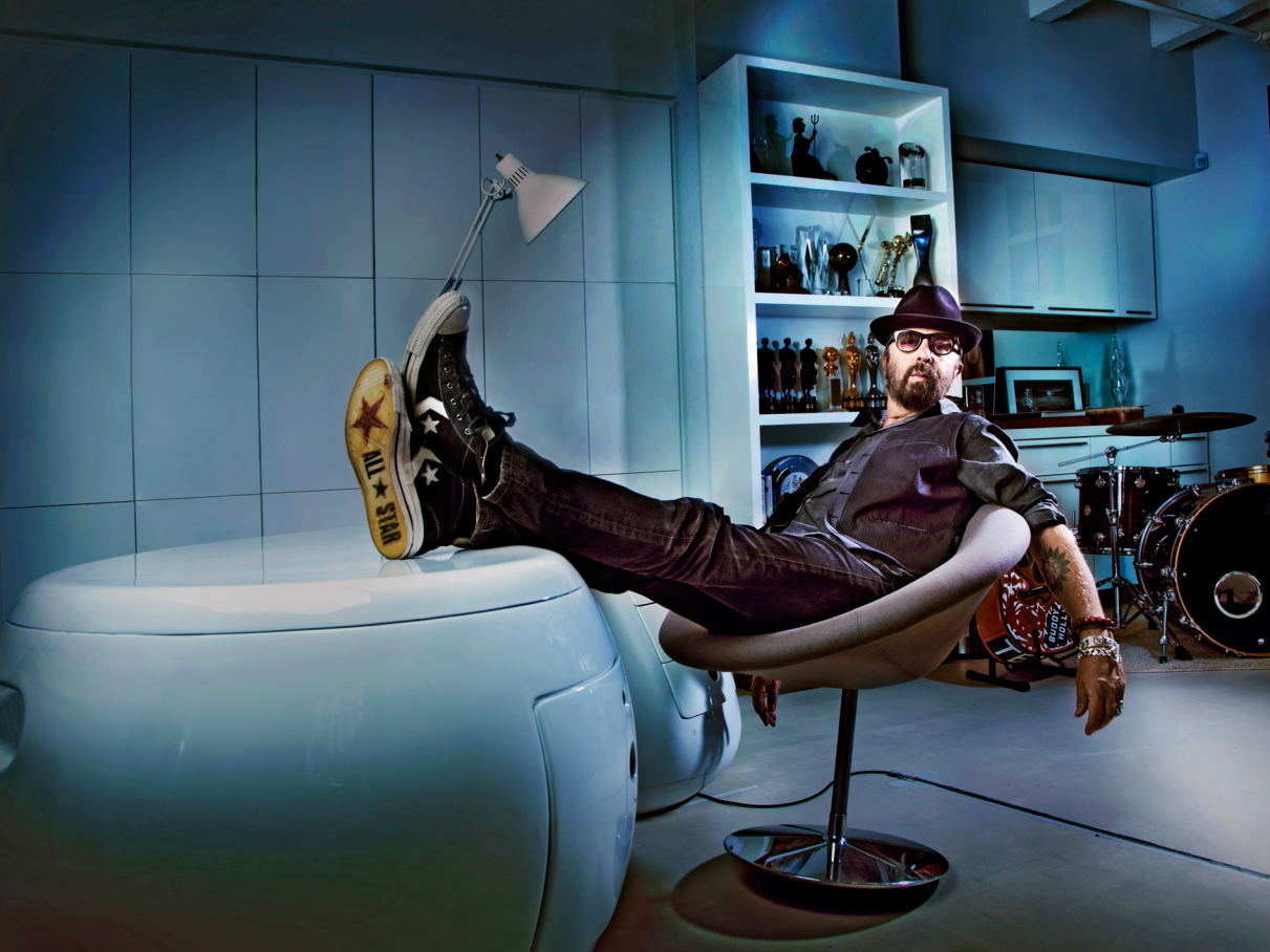 STEVE SCHOFIELD PHOTOGRAPHS MUSICIAN DAVE STEWART FOR THE TIMES MAGAZINE