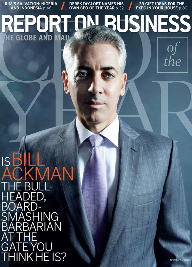 NEIL WILDER SHOOTS COVER PORTRAIT OF BILL ACKMAN FOR REPORT ON BUSINESS