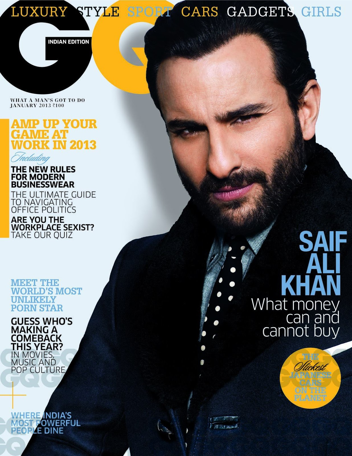 RAM SHERGILL PHOTOGRAPHS SAIF ALI KHAN FOR GQ