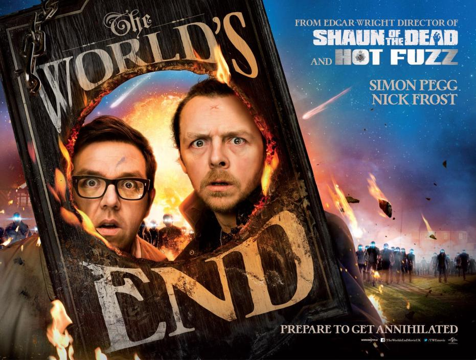 GAVIN BOND SHOOTS THE POSTER FOR THE HIGHLY ANTICIPATED FILM 'THE WORLD'S END'