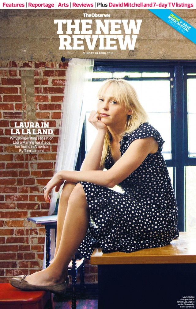 STEVE SCHOFIELD SHOOTS LAURA MARLING FOR THE OBSERVER MAGAZINE.