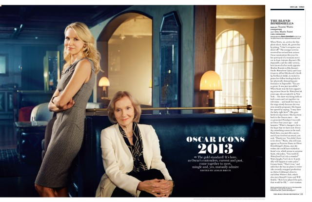 STEVE SCHOFIELD SHOOTS OSCAR STARS FOR THE HOLLYWOOD REPORTER.