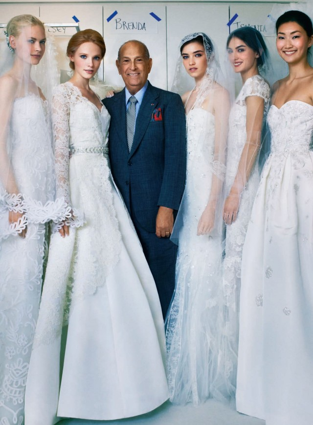 PETER AUGUSTIN SHOOTS OSCAR DE LA RENTA FOR BRIDES MAGAZINE.