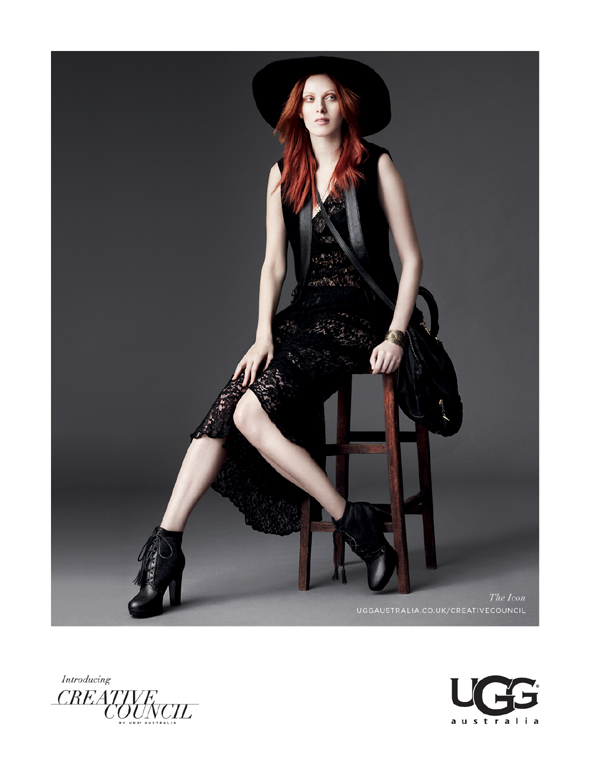 JO BARKER WITH KAREN ELSON FOR UGG
