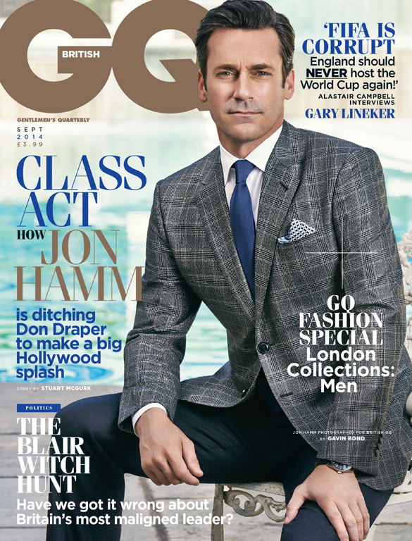 GAVIN BOND SHOOTS JON HAMM FOR GQ MAGAZINE