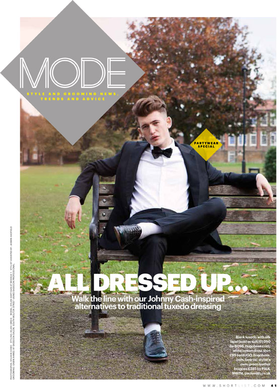 Sylvain Homo photographed style section for Shortlist