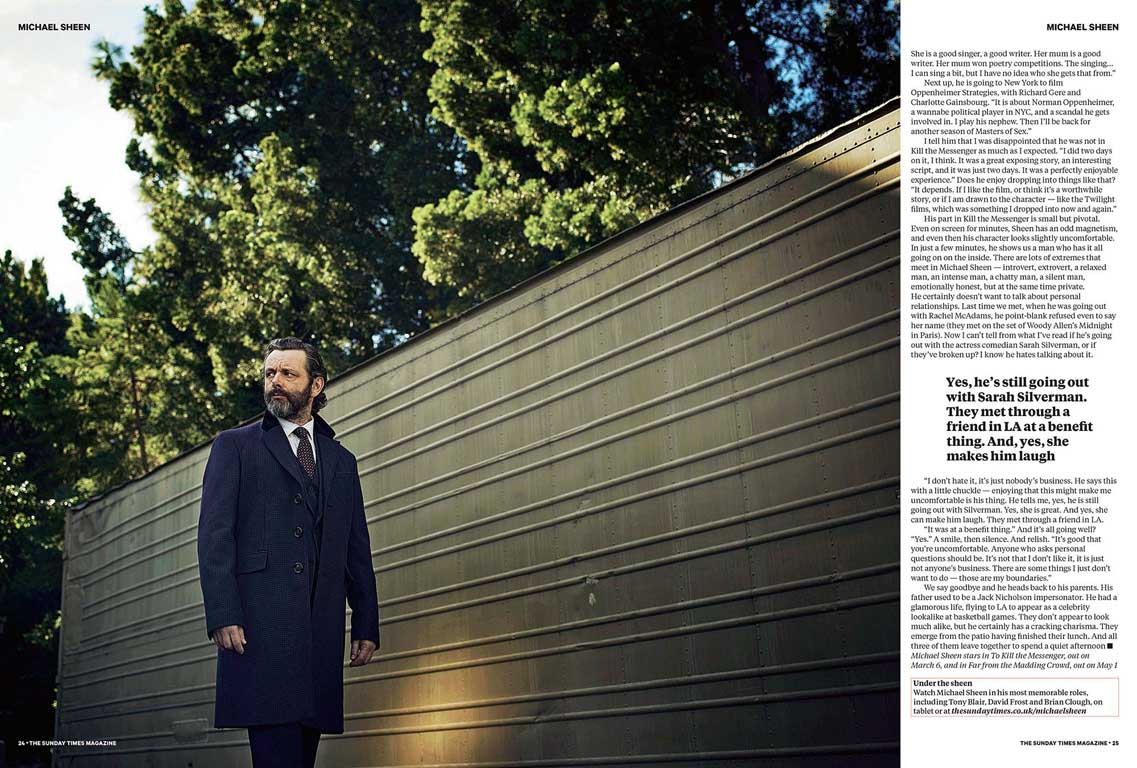 STEVE SCHOFIELD PHOTOGRAPHS MICHAEL SHEEN