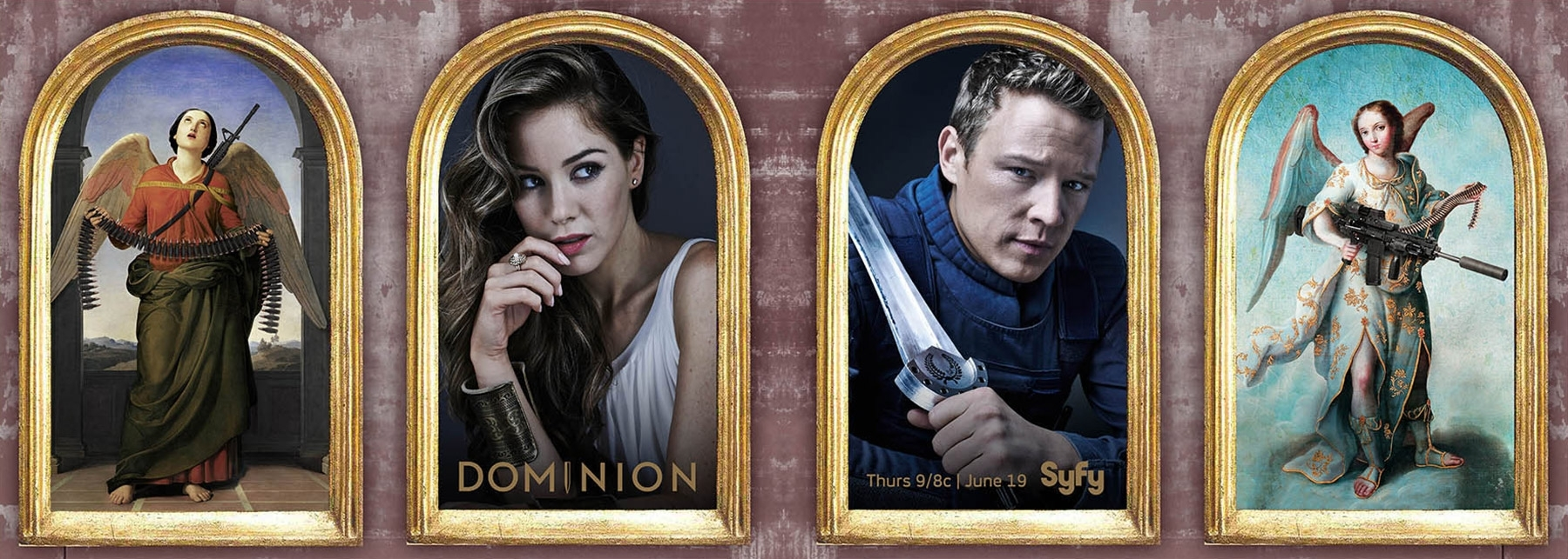 GAVIN BOND SHOOTS POSTERS FOR SYFY'S NEW SHOW, DOMINION