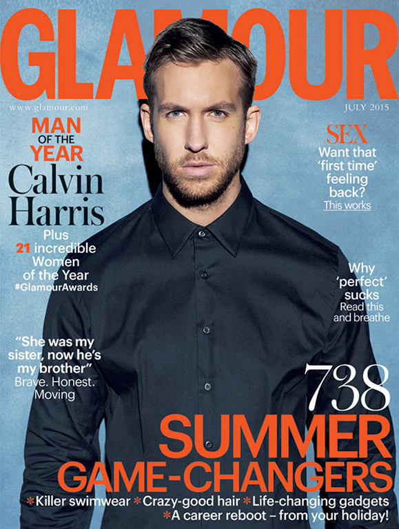 Gavin Bond shoots Calvin Harris as Glamour Magazine's Man of the Year!