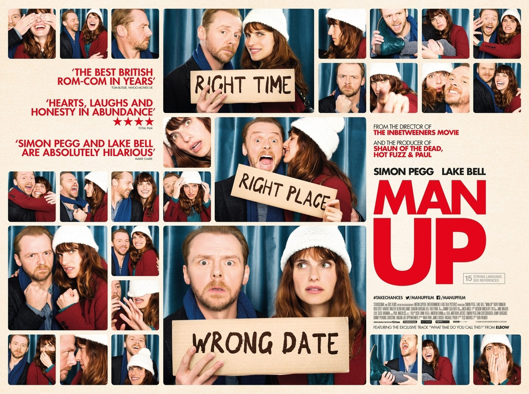 Gavin Bond shoots the poster for the comedy 'Man Up', starring Simon Pegg