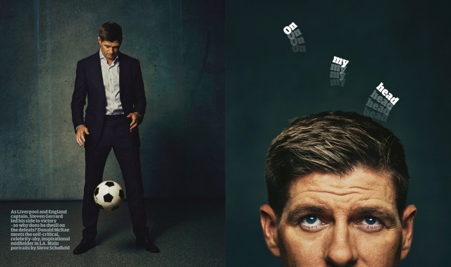 Steve Schofield shoots 'The Guardian' weekend cover with Steven Gerrards!