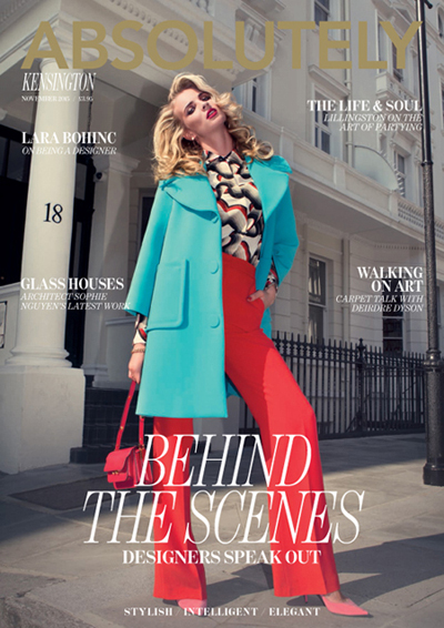 Iris Brosch shoots for Absolutely Magazine