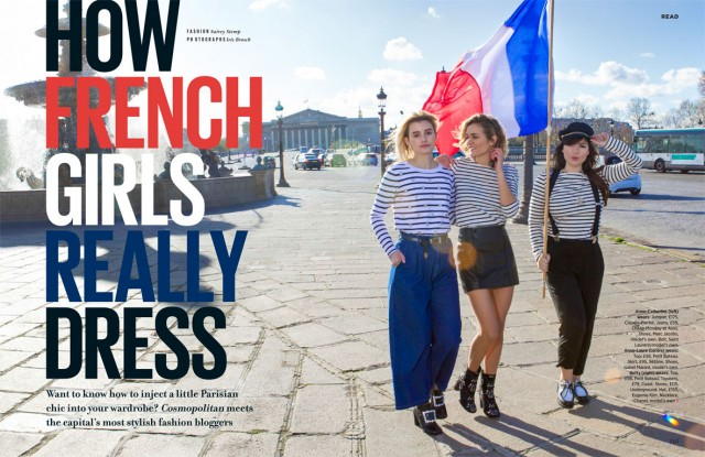 Iris Brosch photographs Parisian Fashion Bloggers for Cosmopolitan Magazine