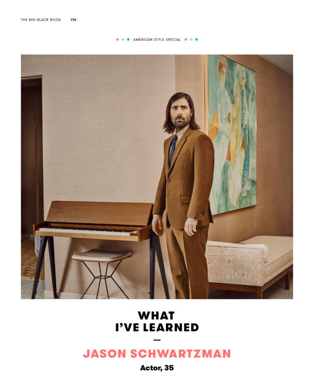 Jason Schwartzman for Esquire Magazine