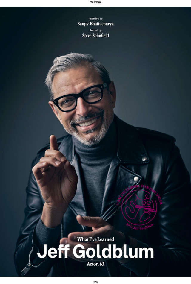 Jeff Goldblum for Esquire Magazine, photographed by Steve Schofield