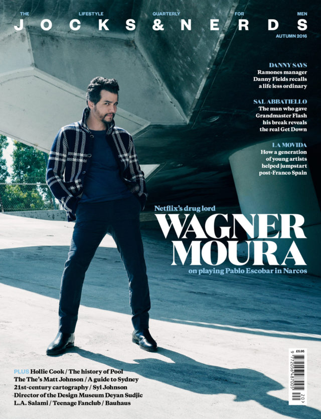 Gavin Bond shoots Wagner Moura for Jocks & Nerds