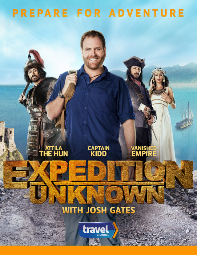 Steve Schofield shoots the key art for Expedition Unknown