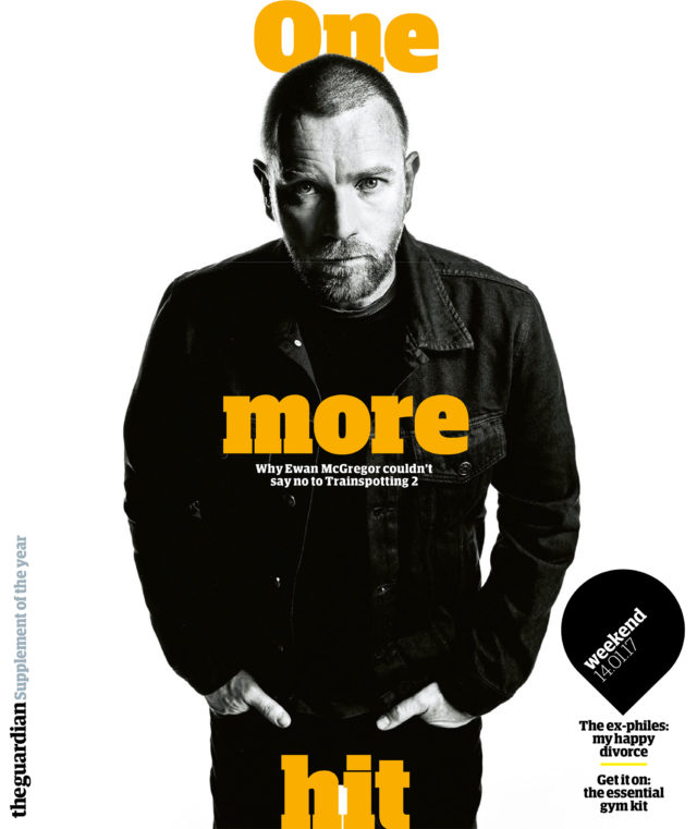 Steve Schofield's new work - Guardian Weekend Magazine of Ewan McGregor For T2 Trainspotting movie