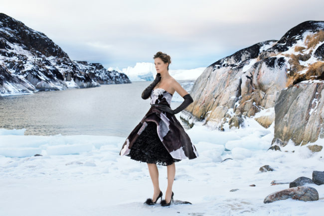 Peter Christian photographs Carmen Kass in a special designed collection by Jorgen Simonsen
