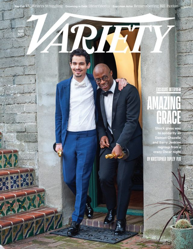Gavin Bond photographs Oscar winning directors Damien Chazelle & Barry Jenkins for Variety